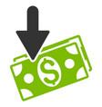 income flat icon vector image