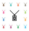 isolated chaplet icon necklace element can vector image