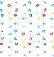 Web Virtual Socail Network Icons vector image
