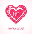 Grunge pink heart vector image