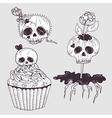 Cute tattoo skulls vector image