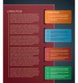 Paper infographics design vector image