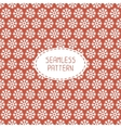 Red seamless snowflakes pattern snow background vector image