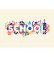 School concept vector image