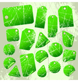 set of green tags vector image