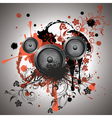 Sound Speaker with Floral vector image