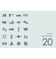 Set of deportation icons vector image