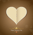 Happy Valentine day paper classic vector image