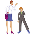 Mother scold at her son vector image vector image