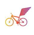 Cycling flat logo bicycle team icon vector image