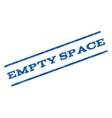 Empty Space Watermark Stamp vector image