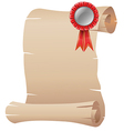 An empty template with a red ribbon vector image vector image
