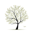 Olive tree for your design vector image