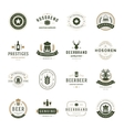 Set Beer Logos Badges and Labels Vintage Style vector image