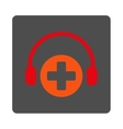 Hospital Call Service Flat Button vector image