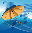 umbrella modern background vector image vector image