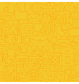 Thin Yellow Office Business Line Seamless Pattern vector image