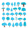 cartoon winter trees set vector image