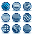 Glossy spheres set vector image