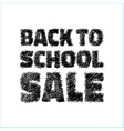 Hand drawn with pen Back to school SALE icon vector image