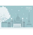 Paris in the winter vector image