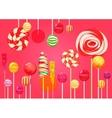 Red pink sugar background with bright colorful vector image