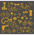 Bicycle icon set Bike types flat design vector image