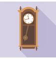 Digital old clock in wooden furniture vector image