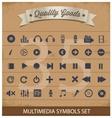 pictogram multimedia symbols set vector image