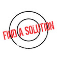 find a solution rubber stamp vector image