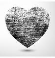 Black Grunge Heart vector image