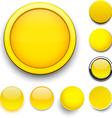 Round yellow icons vector image