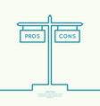 Pros and Cons list vector image