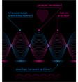 Slender 3d textile motif dark background heart vector image