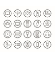 Digital technology linear icons set vector image