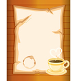 A stationery with a hot tea vector image