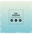 Blue and grunge wallpaper icon Cover background vector image