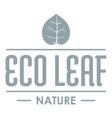 eco organic logo simple gray style vector image