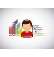 education set flat icons vector image