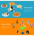 France Tourism 2 Isometric Banners Poster vector image