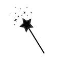 magic wand black vector image