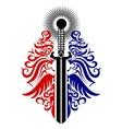 ornate blade vector image