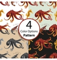 Seamless pattern on animals oceans and seas vector image
