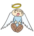 sleeping angel vector image