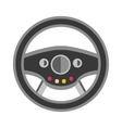Sport car rudder wheel vector image