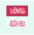 Typography Valentines Day vector image