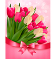 Holiday background with bouquet of colorful vector image vector image