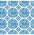 Ukrainian ethnic pattern - seamless texture vector image vector image
