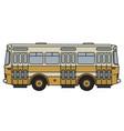 retro yellow city bus vector image