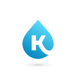 letter k water drop logo icon design template vector image